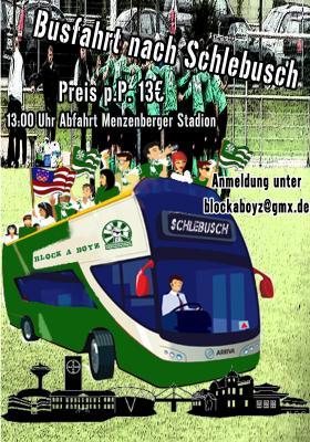 Busfahrt nach Schlebusch